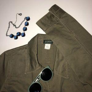 J. Crew Jackets & Coats - J Crew L Olive Green Canvas Jacket